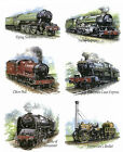 Set of 6 Locomotion Train Select-A-Size Waterslide Ceramic Decals Tx image