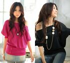 Sexy new Fashion women clothing Casual Short Sleeve Loose Top t-shirts Blouses