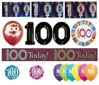 100th Birthday AGE 100 - Range of Party BALLOONS - Foil/Latex/Airfill/Helium