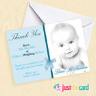 Personalised Baby Thank You cards - Boy or Girl Packs of 8