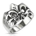 Edelstahl Ring Stainless Steel Crashed Fleur De Lis R-Q8031