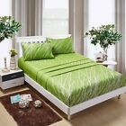 GREEN TREE Sheet Set Double/Queen/King Size Bed Flat&Fitted&Pillowcases Cotton