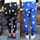Men's Stars Printed Korean Harem Baggy Pants Casual Jogger Dance Trousers Slacks