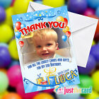 Personalised Birthday Thank You Cards in Blue with your photo added!