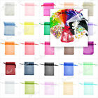 20/60/100 Plain Organza Gift Jewellry Bag Wedding Favour Xmas Party Candy Pouch