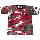 Adult T-Shirt  Red Camouflage Fashion Camo Tee Shirt