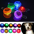 Keep Your Pet Safe at Night! 5 Colors LED Flash Collar Light Push Button Switch