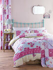 Catherine Lansfield Gypsy Patchwork Floral Butterfly Duvet Set Easy Care Quilt