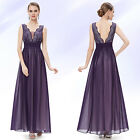 Ever Pretty Plus Size Black Long Evening Formal Party Bridesmaid Dress 08019