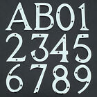 CHROME HOUSE DOOR NUMERALS & LETTERS ★CHOOSE A/B 0-9★ Front Building Porch Wall