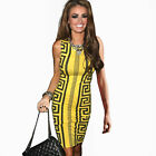 Womens Celebrity Style Aztec Tribal Rocco Print Bodycon Party Pencil Dress E750