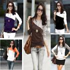 New Women Ladies Long Sleeve Sleeved T-shirt top blouse size 8,10,12