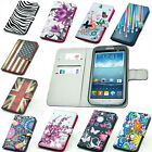 For SAMSUNG GALAXY ACE 3 S7272 leather flower floral card wallet case cover