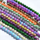 50pcs 8mm Round Chic Glass Loose Spacer Beads DIY Jewelry Making charms 20 color