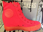 NEW CONVERSE CHUCK TAYLOR ALL STAR PLATFORM PLUS RED WOMEN SHOES 542431C