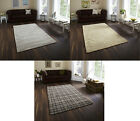 Modern Hand Knotted 100% Wool Floor Rug Thick Designer Mat Stripe Floral Square