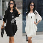 Fashion Women's Summer Short Sleeve Chiffon Mini Dress Ladies Casual Party Dress