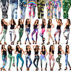 New(*_~)Stylish Stretchy Comfortable Leisure Space Galaxy Pants casual Leggings