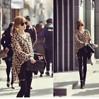Women Ladies Leopard Chiffon Loose Blouse Irregular Hem Casual Top Shirt New