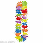 1 10 25 50 100 lot  Hawaiian Multicolour Flower Lei Fancy Dress Necklace Garland