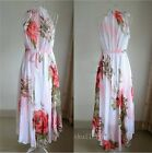 Vintage 2014 New Women RunWay Floral Printed Evening Party Maxi Long Boho Dress