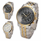 KS Aviator Gold Day Date Stainless Steel Men Automatic Mechanical Watch