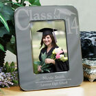 Personalized Class Of  Engraved Photo Frame Silver Graduation Picture Frame