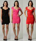 WOMEN SEXY FASHION SLIM SOFT STRETCH CASUAL PARTY EVENING COCKTAIL MINI DRESS
