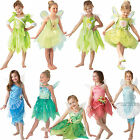 Childs Disney Fairy Pixie Tinkerbell Fancy Dress Kids Costume Book Week Outfit