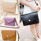 Womens Ladies Shoulder Bag Cross Body Clutch Synthetic Leather Purse Totes New