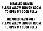 Disability Stickers Disabled Driver / Disabled Passenger x 2 Vinyl Decals