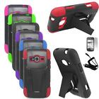 For ZTE Concord 2 II Case Hybrid Rugged Hard Cover Stand+Car Charger+LCD 3in1