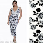 Plus Size Lingerie Size 1X 2X or 3X Ivory and Black Rose Capri Pajamas  VX2050X