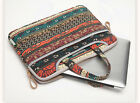 """13""""14""""15"""" Bohemian Style Canvas Laptop Tote Carry Bag Cover Handle Case Sleeve"""