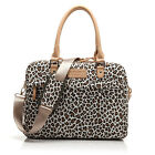 "Leopard Shape Canvas 13""14""15"" Laptop Shoulder Messenger Bag Cover Handle Pouch"