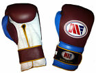 Main Event West Ham Claret and Blue Pro Leather Training Sparring Boxing Gloves