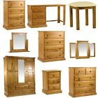 Napier Wood Bedroom Range - Mirrors or Tables or Wardrobes - Light, Pinewood