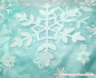 Princess Elsa Blue Big Snowflake Organza Hand Crafting Sew Fabric Cloth 1Yard