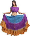 40 inches 25 yard Belly Dance skirts Plus Size tie dye skirts variation