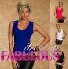 SEXY WOMEN'S KNITTED TOP 6 8 10 LADIES PARTY CASUAL SINGLET JUMPER SHIRT XS S M