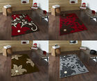 Modena Modern Floral Design Rug 100% Polypropylene Machine Made Centre Piece