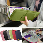 Full Closure Zipped Travel Bag Wallet Document Organiser Passport Ticket Holder