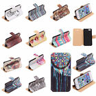 STYLISH PU LEATHER FLIP WALLET STAND CASE COVER SCREEN PROTECTOR FOR IPHONE 5 5S