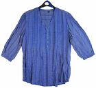 Women's Ex Chain Store ¾ Sleeve V Neck Fashion Top Blue Plus Size 10-20 NEW