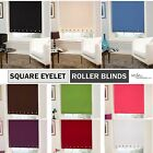 Square Chrome Eyelet Roller Blinds in 9 Colours - Machine Washable