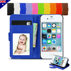 New Wallet Leather Card Stand Case Flip Pouch Cover For Apple iPhone 4S 4G 4