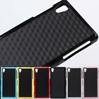 TPU Deluxe Businuess Cuboid Design Soft Bumper Case Cover for Sony Xperia Z2