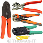 Automatic Wire Crimper Ratchet Plier Electrical Cutting Crimping Cable Stripper