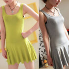 2014 New Fashion Women's Candy Pleated Sleeveless Vest Dress Traps Bottoming