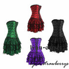 Sexy Goth Women's Vintage Lace Corset Bustier with Mini TuTu Skirt Fancy Dresses